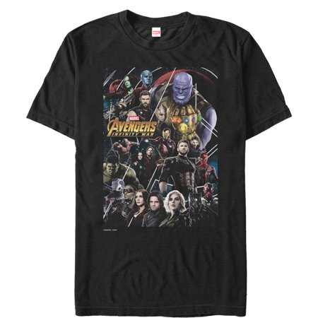 Marvel Men's Avengers: Infinity War Character View T-Shirt for $<!---->