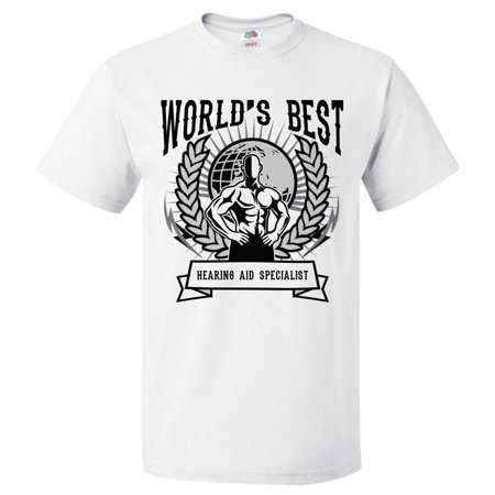 World's Best Hearing Aid Specialist T Shirt Gift for Hearing Aid Specialist Shirt (Best Hearing Aids On The Market)