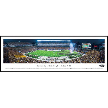 Pittsburgh Football   Night   Blakeway Panoramas Ncaa College Print With Standard Frame