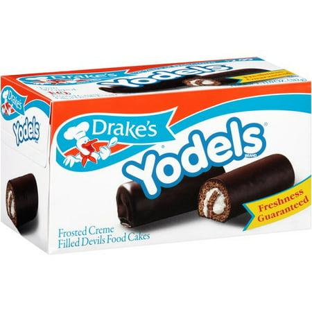 Drake Yodels Frosted Creme Filled Devils Food Cakes - 10ct/11oz