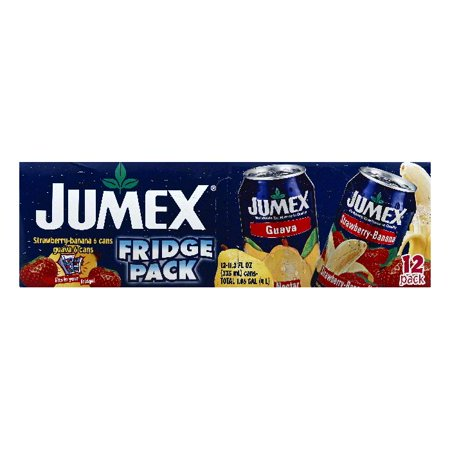 Jumex Fridge Pack Strawberry Banana Guava Nectar  12 Ea