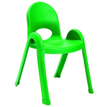 Angeles 13 in. Kids Stacking Chair in Shamrock Green - Set of 4