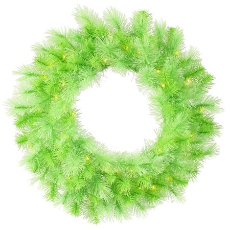 "Vickerman 30"" Prelit Lime Green Cashmere Artificial Christmas Wreath - Clear Lights"