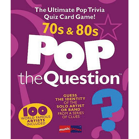 Trivia Card Set - Music Sales Pop The Question 70's & 80's - The Ultimate Pop Trivia Quiz Card Game