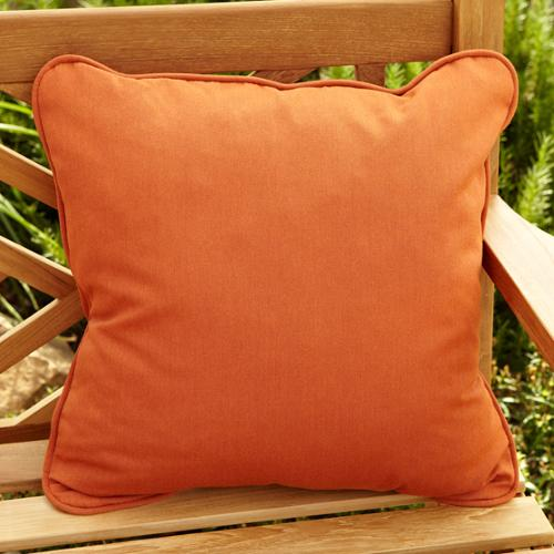 Mozaic Company Clara Rust 18-inch Square Outdoor Sunbrella Pillows (Set of 2)