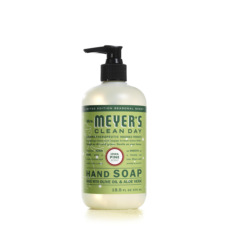 Mrs. Meyer's Clean Day Liquid Hand Soap Bottle, Iowa Pine Scent, 12.5 fl oz