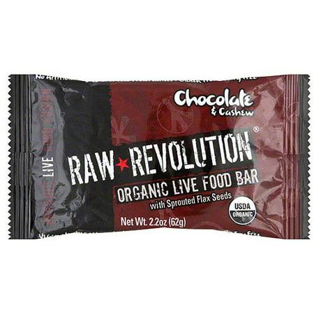 Raw Revolution Organic Live Chocolate & Cashew Food Bars, 1.8 oz (Pack of 12)