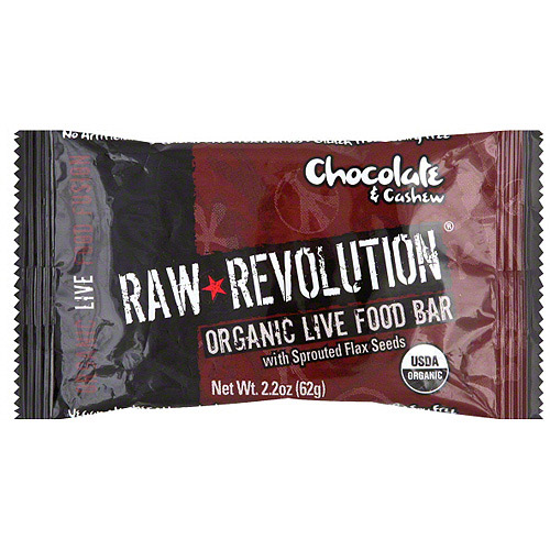 Raw Revolution Organic Live Chocolate & Cashew Food Bars, 1.8 oz (Pack of 12)