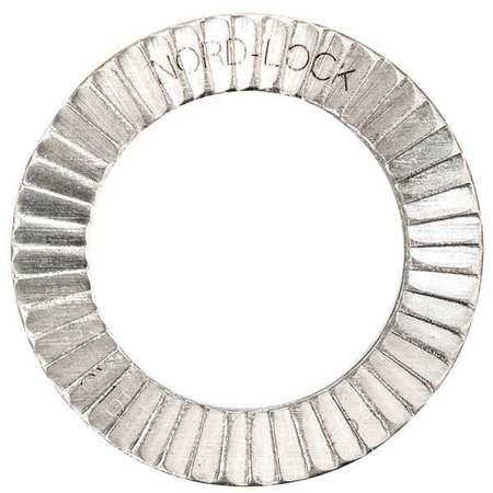 """NORD-LOCK 5/16"""" x 0.530"""" OD 254 SMO Stainless Steel Plain Finish Lock Washers, 10 pk., 1571"""