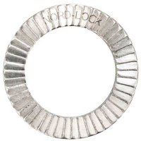 "NORD-LOCK 1/4"" x 0.450"" OD 254 SMO Stainless Steel Plain Finish Lock Washers, 10 pk., 1569"
