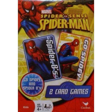Spider Sense Spider Man Card Games   Two Card Games  Spider 8S And Go Spidey   Usa  Brand Cardinal