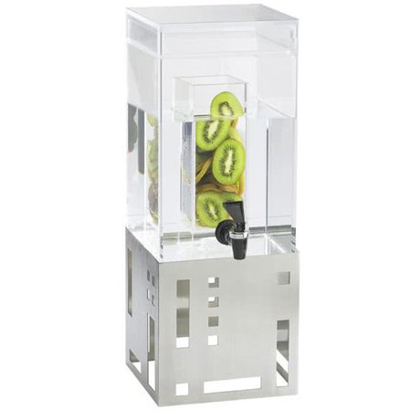 Cal Mil 1602-1INF-55 1.5 gal Stainless Steel Beverage Dispenser with Infusion Chamber - 7.5 x 9.5 x 17.75 in. - image 1 of 1