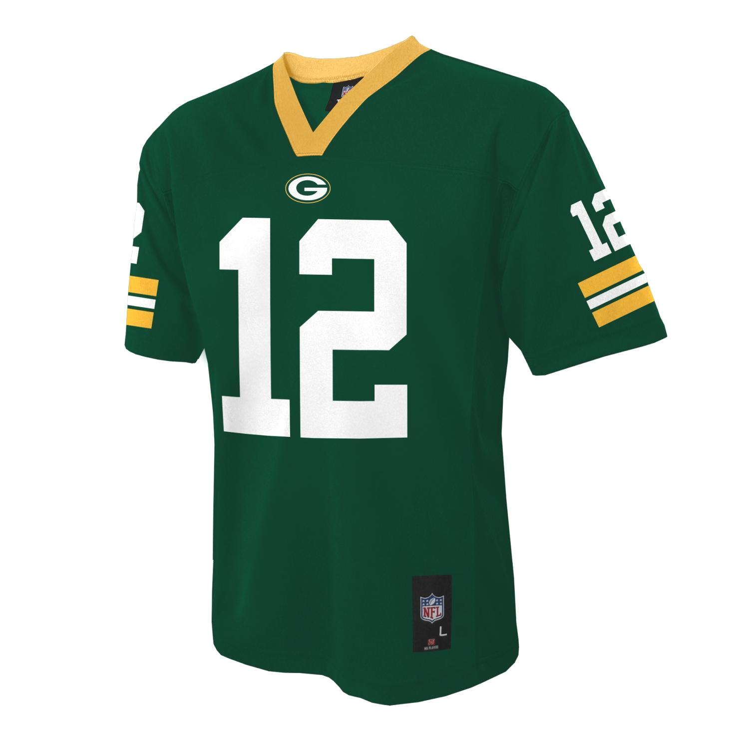 Aaron Rodgers Green Bay Packers Youth NFL Mid Tier Replic...
