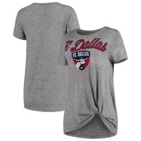 FC Dallas Concepts Sport Women's Layover Knot Tri-Blend T-Shirt - Gray