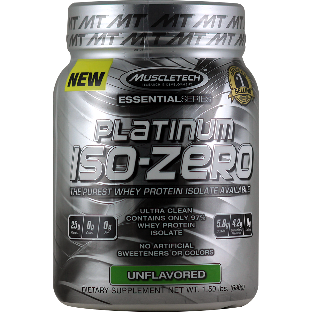 Muscletech Essential Series - Platinum Iso-Zero Unflavored 1.5 lbs