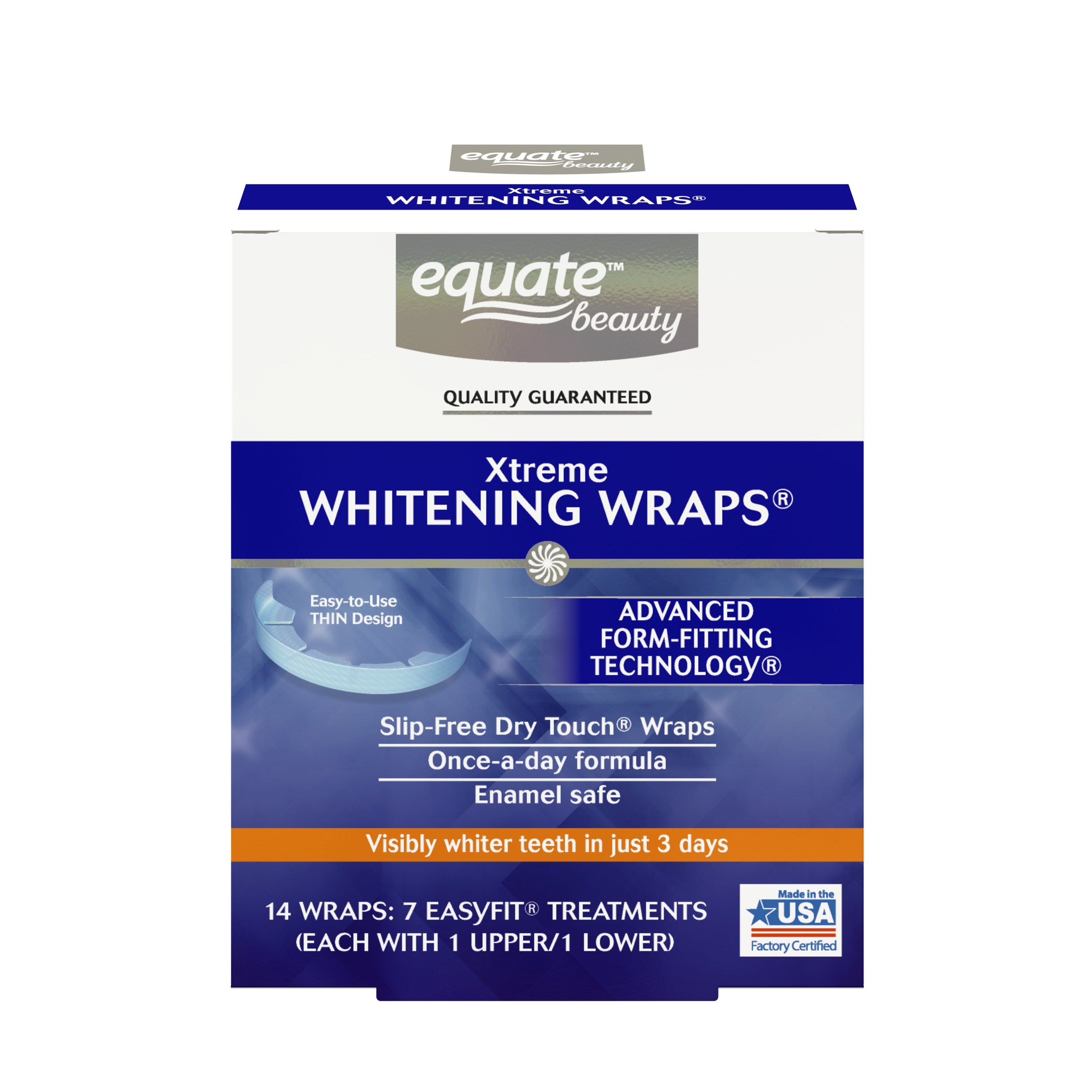 Equate Beauty Xtreme Teeth Whitening Wraps, 7 Treatments