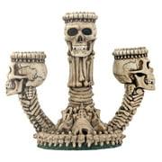Ossuary Skeleton Triple Votive / Candle Holder - Skull Candleholder