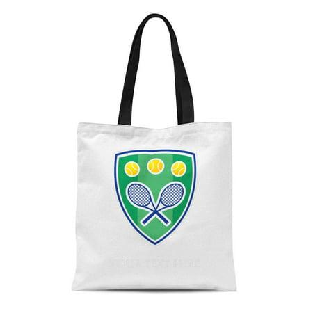 SIDONKU Canvas Tote Bag Racket Custom Tennis for Her Chic Gu Ball Player Reusable Handbag Shoulder Grocery Shopping Bags Custom Player Equipment Bag
