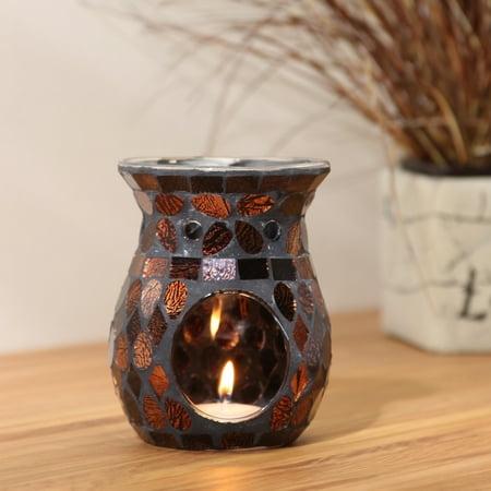 Mainstays Mosaic Glass Oil Warmer, Bronze Glass Tiles