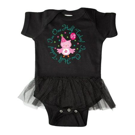 Half Birthday Cute Owl for Girls Infant Tutu Bodysuit