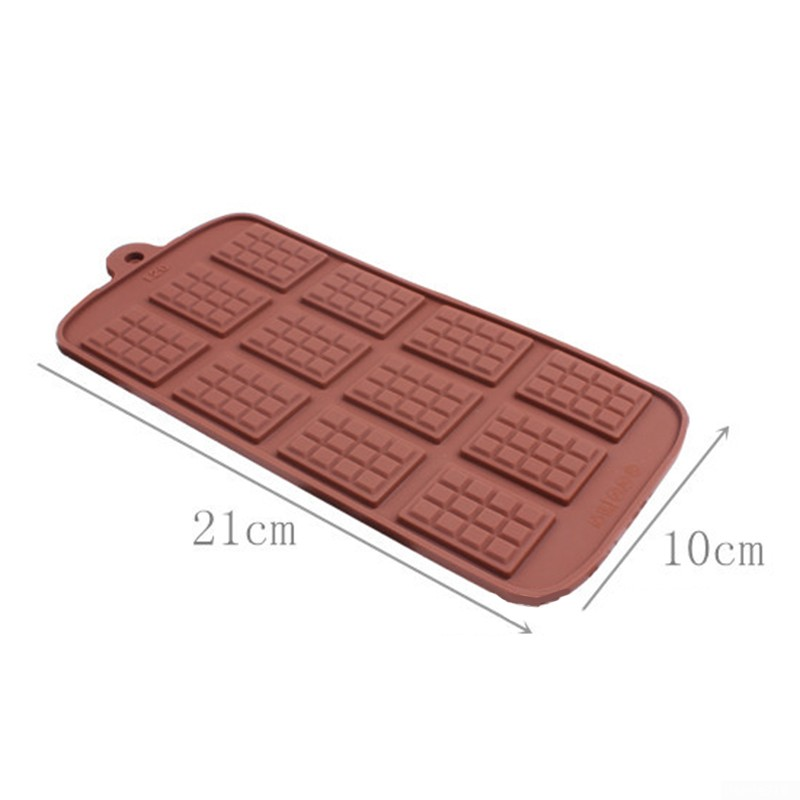 6 cell SMALL 5 Sectional Chocolate Bar Mould Professional Silicone Bakeware Mold