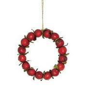 "Northlight 4.5"" Autumn Harvest Crabapple Wreath Christmas Ornament - Red"