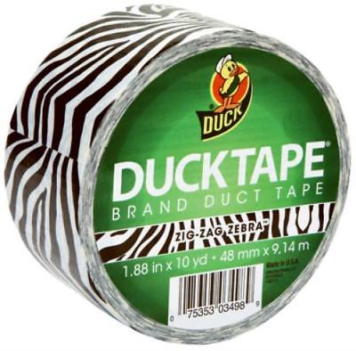 "Duck 1.88"" x 10 YD Black Zebra Print Duct Tape Use For Repairs Color C 2PK"