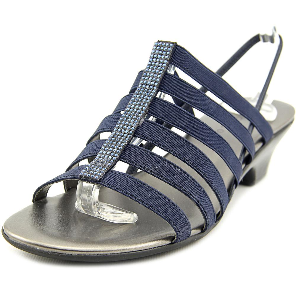 Karen Scott Estevee Women  Open-Toe Canvas Blue Slingback Sandal