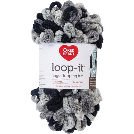 Red Heart Yarn Loop-It School of Rocks Yarn, 7.6