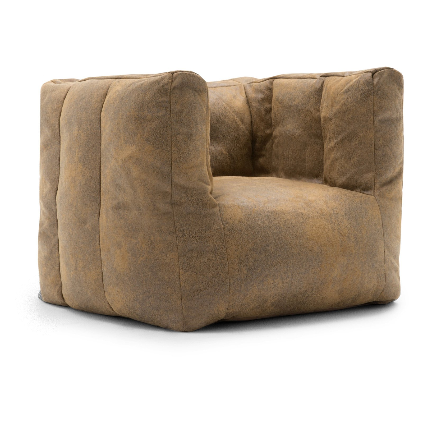 Lux by Big Joe Cube Blazer Leather Bean Bag