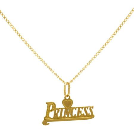 10kt yellow gold princess pendant 13 walmart 10kt yellow gold princess pendant 13 aloadofball Gallery