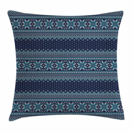 Nordic Throw Pillow Cushion Cover Festive Knitted Pattern With