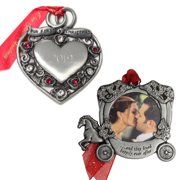 Gloria Duchin Married Couple's First Christmas Ornament 2-Piece Set