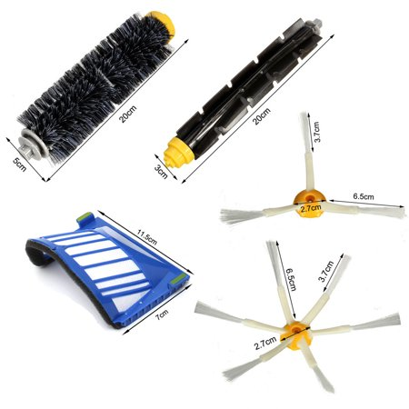Filters & Brush Pack Kit For iRobot Roomba 600 Series 600 620 630 650 660 Set of 6Pcs - image 4 de 6