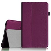 Fintie Samsung Galaxy Tab 4 7.0 Case - Slim Fit Premium Vegan Leather Folio Stand Cover, Purple