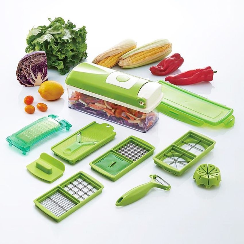 12 PCS Home Kitchen Vegetable Fruit Cutting Dicer Slicer Cutter Chopper Tool Set