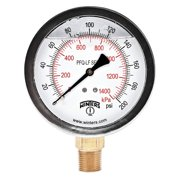 "WINTERS 2-1/2"" Lead Free Pressure Gauge,  0 to 200 psi PFQ806LF"