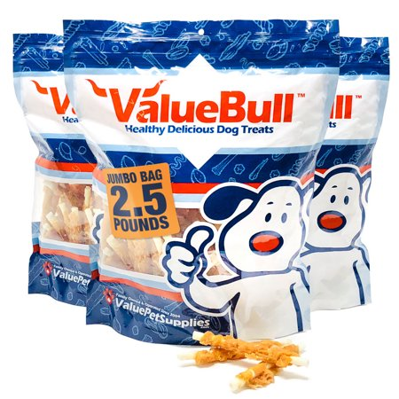 ValueBull Rawhide Chicken Wraps for Dogs, 7.5 Pound (Pound Dogs)