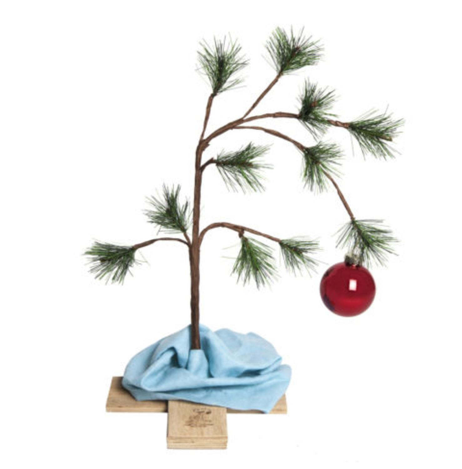 Product Works 2 ft. Original Charlie Brown Unlit Christmas Tree Decoration