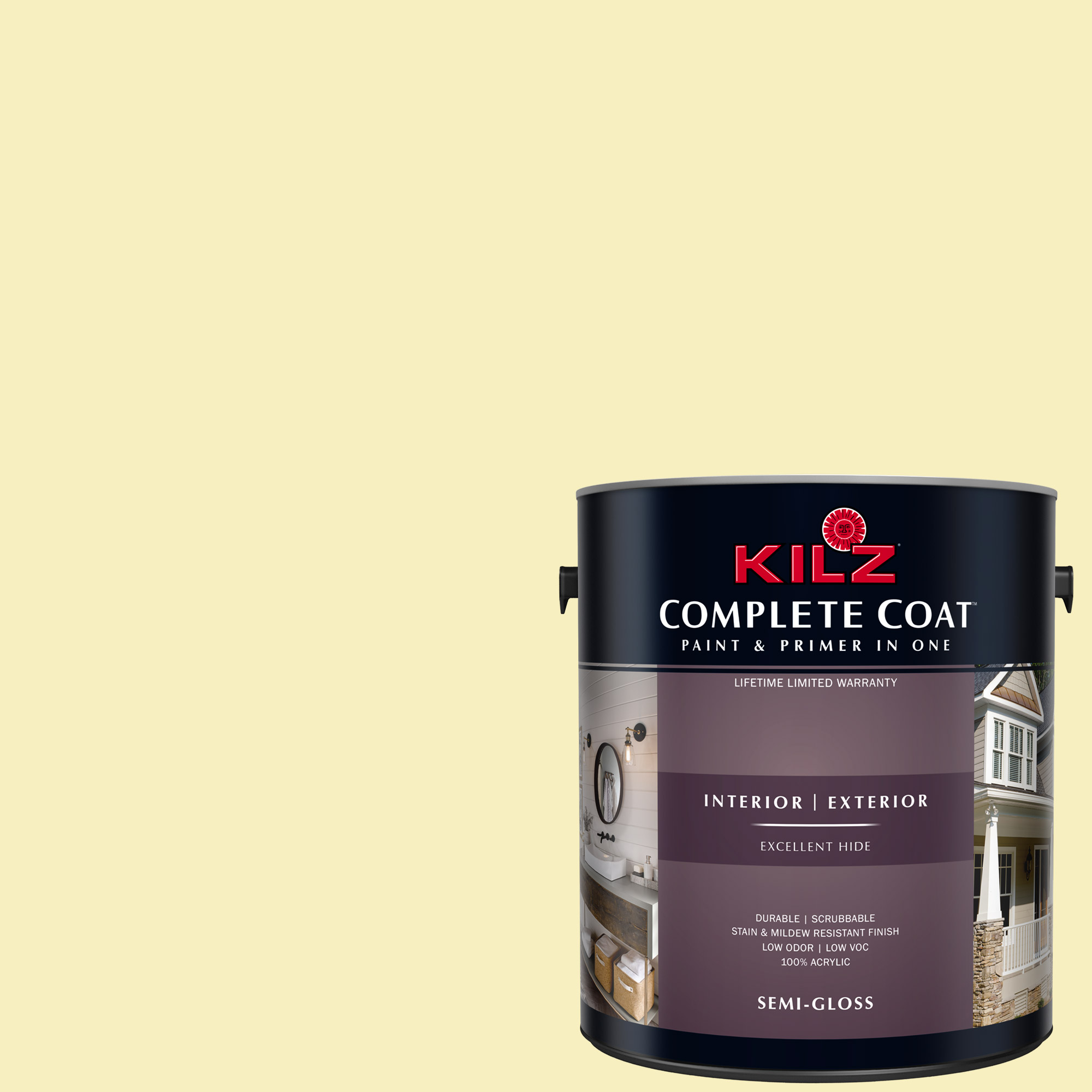 KILZ COMPLETE COAT Interior/Exterior Paint & Primer in One #LE210-02 Yellow Taffy