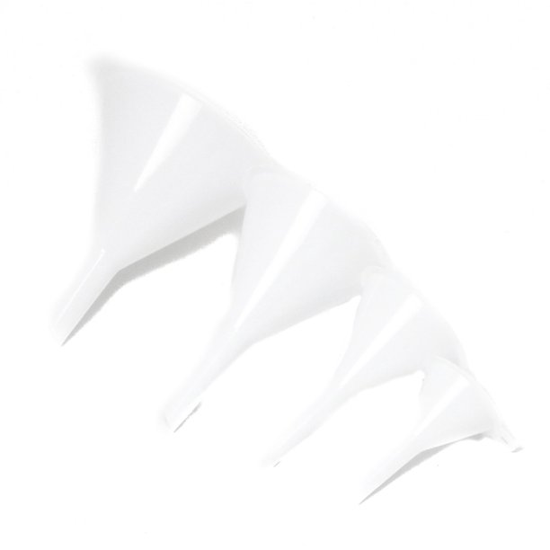 Chef Craft Plastic Funnel Set (4 Pieces), White