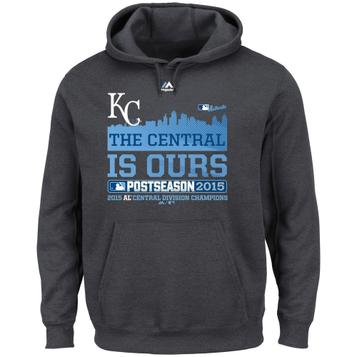 Kansas City Royals Majestic 2015 AL Central Division Champions The Central is Ours Hoodie - Charcoal
