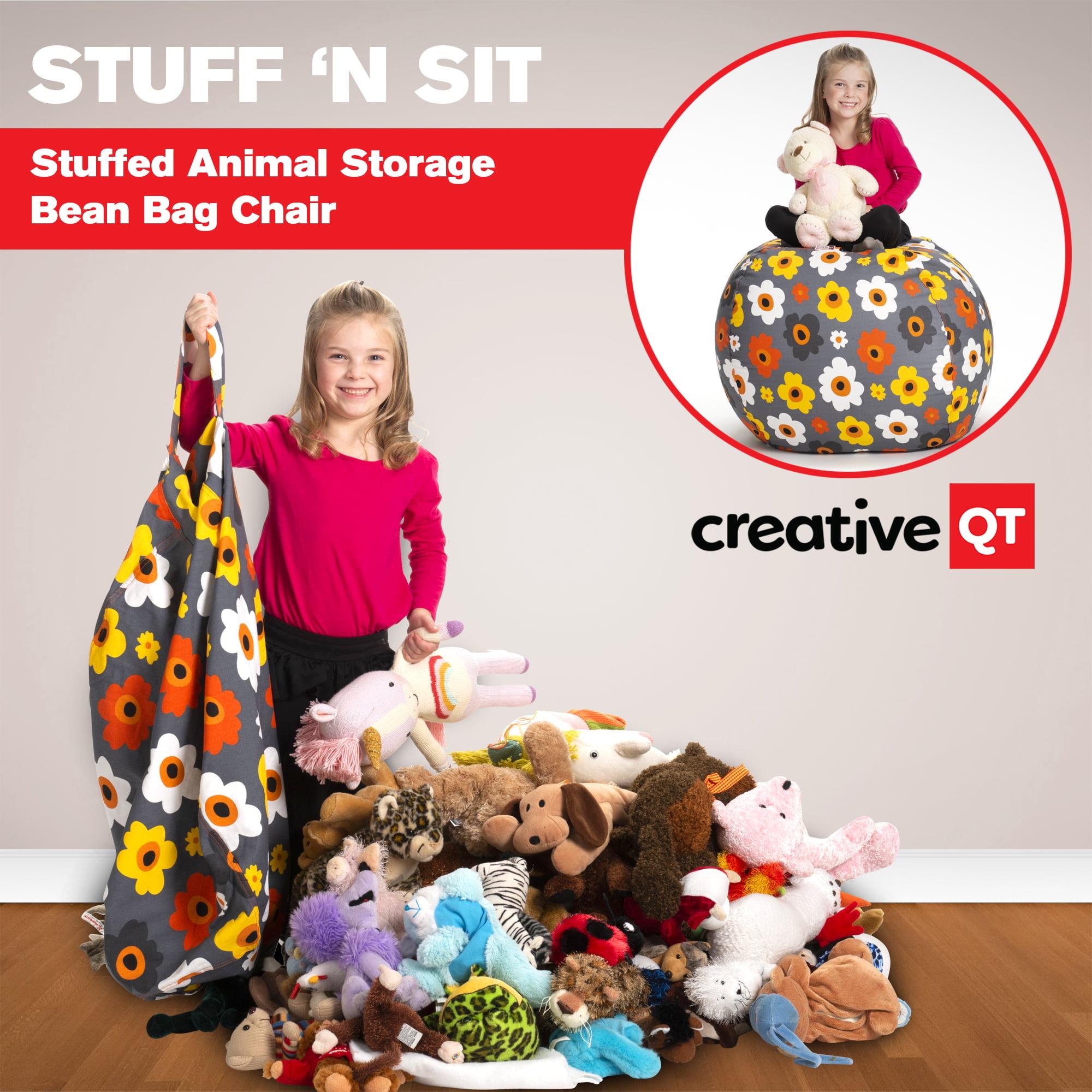 Creative Qt Stuffed Animal Storage Bean Bag Chair Extra Large