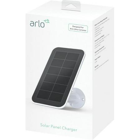 Arlo - Solar Panel Charger for Arlo Ultra Security Cameras - White/Black VMA5600-10000S Black & White Camera