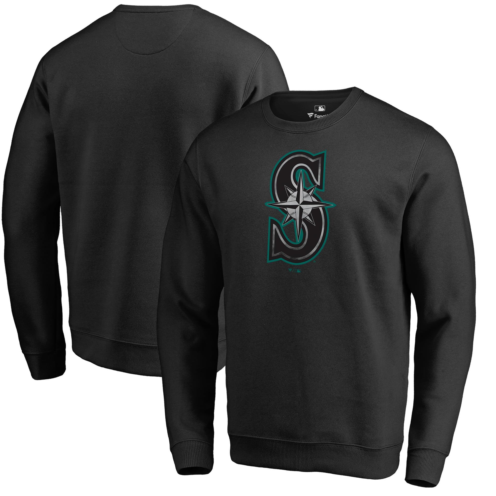 Seattle Mariners Fanatics Branded Core Smoke Fleece Sweatshirt - Black