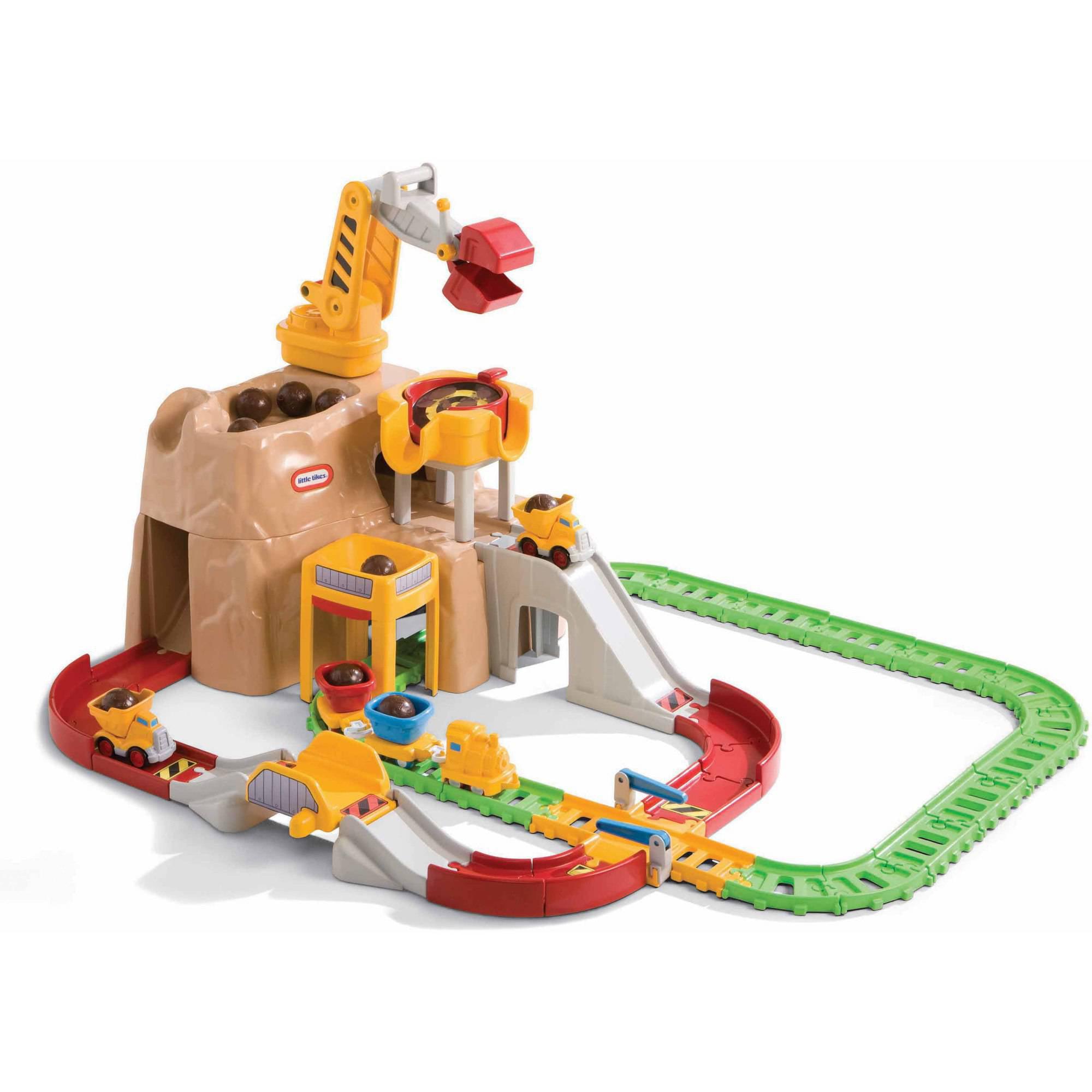 Little Tikes Big Adventures Construction Peak Rail and Road Play Set ...