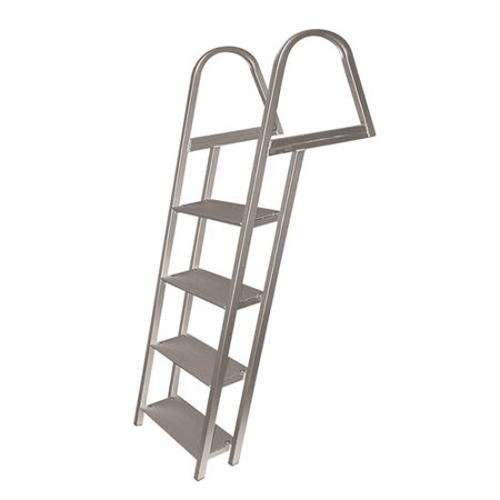 Aluminum 12 Volt Outdoor Step - Marine 4 Step Pontoon - Dock Boat Ladder - Aluminum