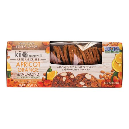 Kii Naturals Apricot Orange Almond - pack of 12 - 5.3 Oz. (Almonds Apricots)