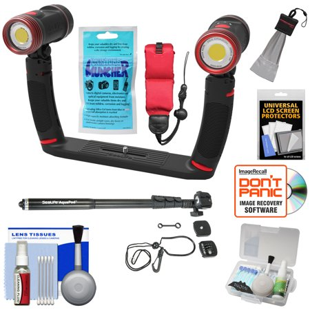 SeaLife SL989 Underwater Photo/Video Sea Dragon Duo 5000 Video Light Set with Aquapod + Silica Gel + Floating Strap + Accessory Kit