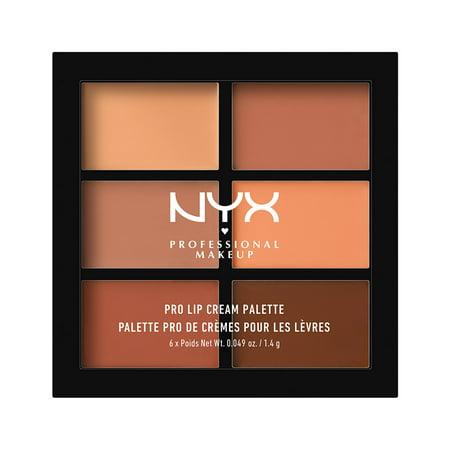 NYX Professional Makeup Pro Lip Cream Palette, The Nudes (Lip Stitch Halloween Makeup)